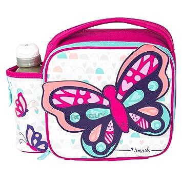 Skyla mariposas bolsa para el almuerzo con 350 ml botella de agua para niños sin BPA