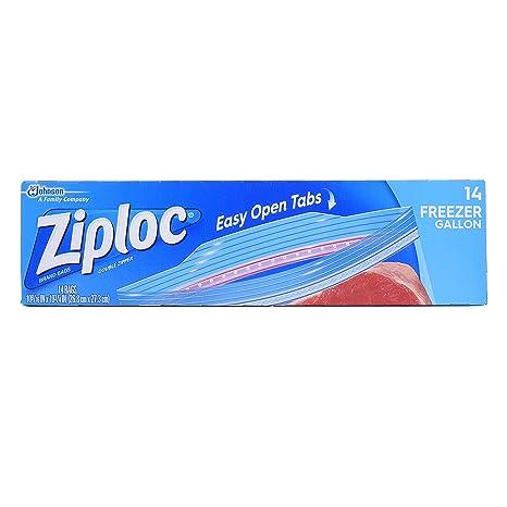 Ziploc Bolsas de congelador - 1 galš®n - 14 ct: Amazon.es: Hogar