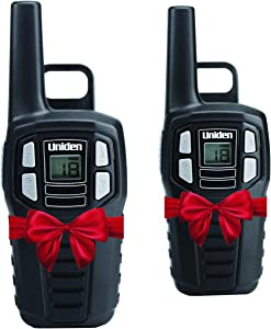 Uniden SX167-2C Up to 16 Mile Range, FRS Two-Way Radio Walkie Talkies, Rechargeable Batteries with Convenient Charging Cable, NOAA Weather Channels, Roger Beep, 2-Pack Black Color
