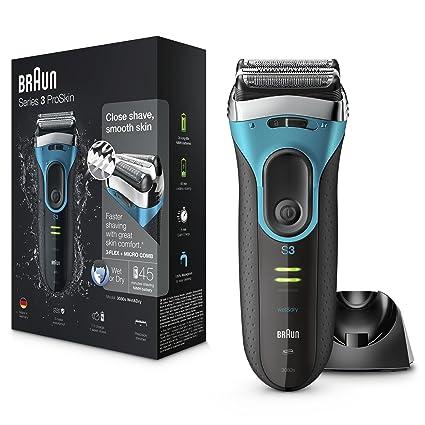 Braun Series 3 ProSkin 3080s - Afeitadora eléctrica inalámbrica y  recargable 817823a2fb49