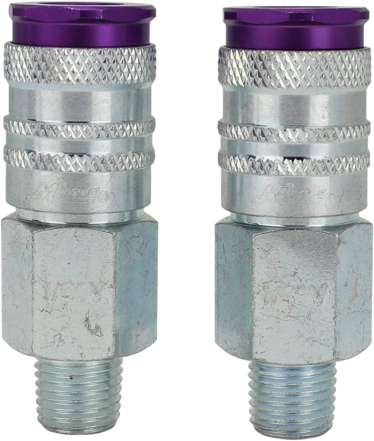 "ColorFit by Milton HIGHFLOWPRO S-314VKIT Coupler & Plug Kit - (V-Style, Purple) - 1/4"" NPT, (14-Piece) - -"