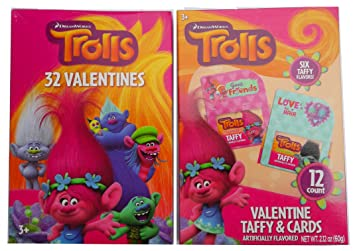 Amazoncom Valentines Cards Featuring Trolls Toys  Games