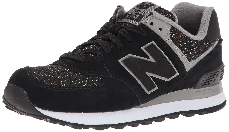 New Balance Women's 574v1 Sneaker B01MY1YBH6 11.5 B(M) US|Black/Overcast