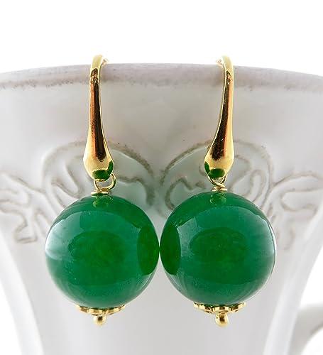 1a1ab32a11eb Pendientes de jade verde esmeralda