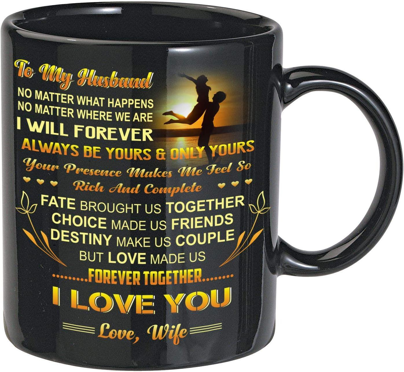 To My Husband 11oz /& 15oz Mug I Love You Perfect gift for Valentine's Day