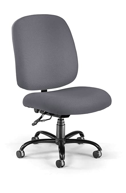 Wondrous Ofm Big And Tall Executive Task Chair Armless Fabric Office Chair Gray 700 239 Home Interior And Landscaping Ologienasavecom