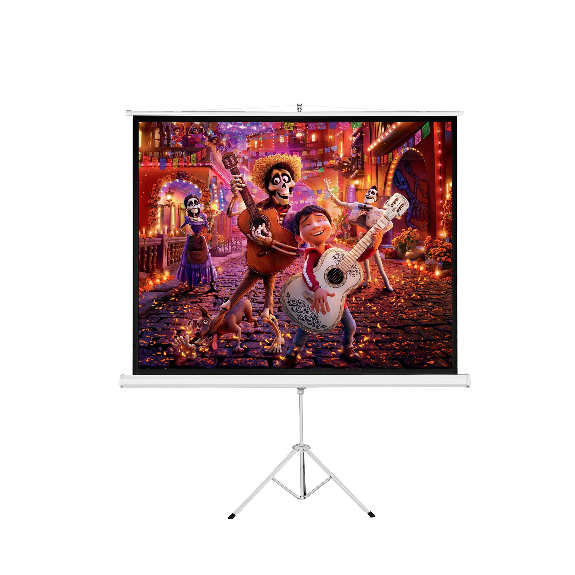 Cloud Mountain 120'' 4:3 Pull Up Tripod Projection Screen Portable Projector Projection Screen Matte White by Cloud Mountain