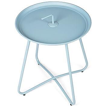 Vanage - Table basse design - Style Bistrot - Table basse pour extérieur et  intérieur - Parfait comme table d\'appoint pour le Thé et/ou le Café - ...