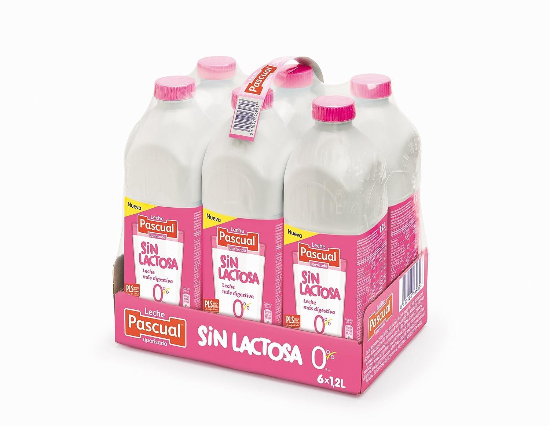 Pascual Leche Sin Lactosa Desnatada - Paquete de 6 x 1200 ml - Total: 7200 ml: Amazon.es: Alimentación y bebidas