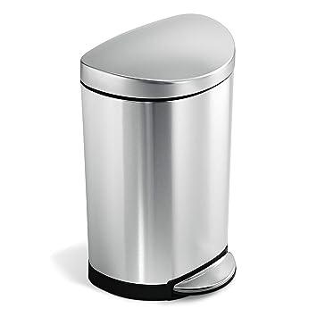 Amazon.com: Simplehuman Bote de basura semi-circular con ...