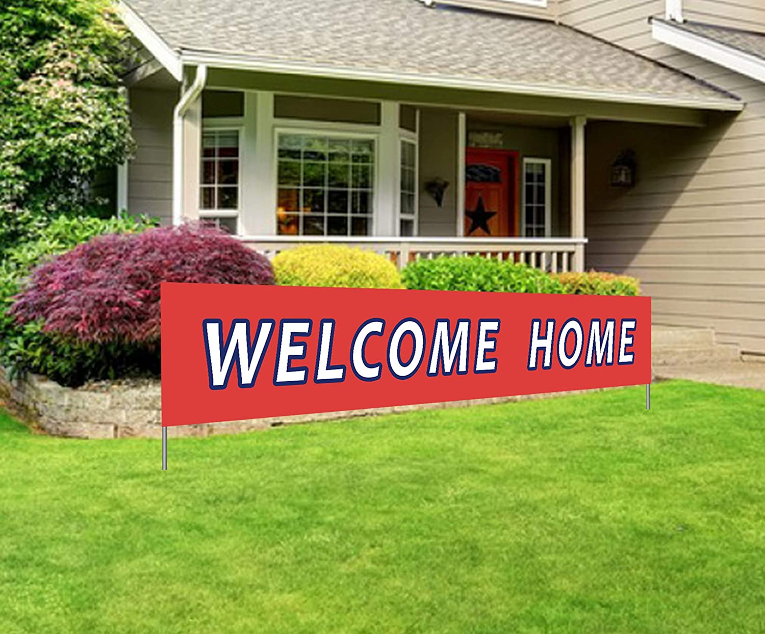Large Welcome Home Banner   Back Home Welcome Sign   Extra Large Homecoming Party Decorations