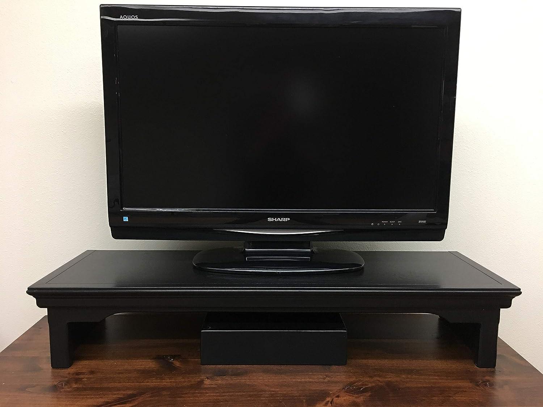 Oak Design Corporation TV Riser Stand Traditional Style Alder Wood in Mocha 26 Wide