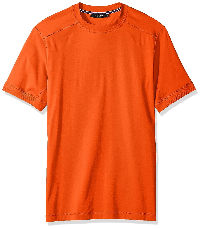 Bugatchi Mens Lightweight Cotton Short Sleeve Crew Neck Shirt