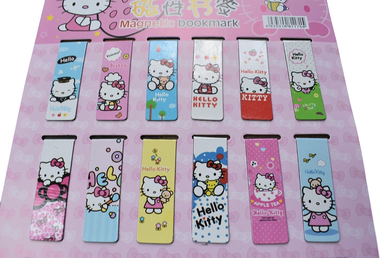 Fat-catz-copy-catz /® 2/x novit/à cute Hello Kitty giapponese design segnalibro magnetico segnapagina