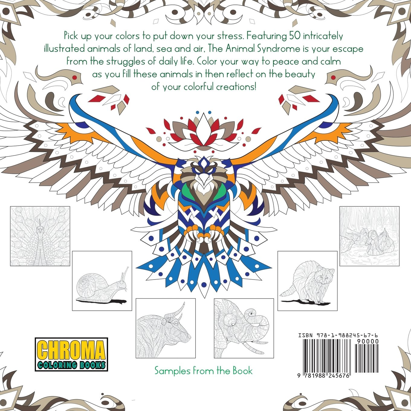 Oliver Hellowell Amazoncom The Animal Syndrome Melange Of 50 Animals Graphics For Adults To Color Animal Coloring Book For Adults 85 85 Amazoncom Amazoncom The Animal Syndrome Melange Of 50 Animals Graphics