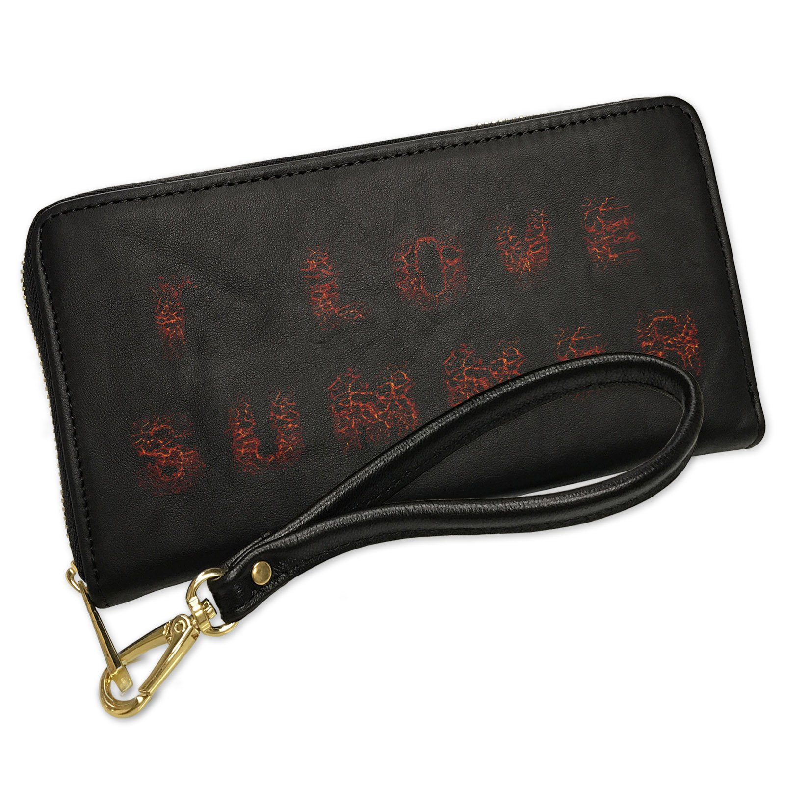 Wallet Clutch I Love Summer Hell Rock Lava Fire with Removable Wristlet Strap Neonblond