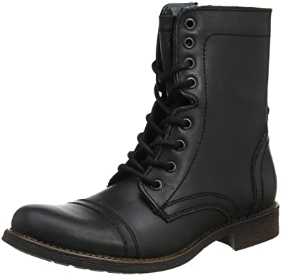 STEVEN by Steve Madden Steve Madden Footwear Troopah2 Lace Up, Bottes Homme, Noir (Black), 41 EU