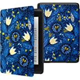 MoKo Case Fits Kindle Paperwhite (10th Generation, 2018 Release), Thinnest Lightest Smart Shell Cover with Auto Wake/Sleep for Amazon Kindle Paperwhite 2018 E-reader - Tulip Blue