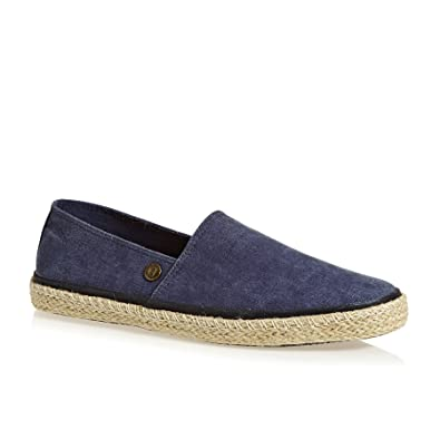 Adam Espadrille - Navy Washed Canvas (Textile) Mens Shoes