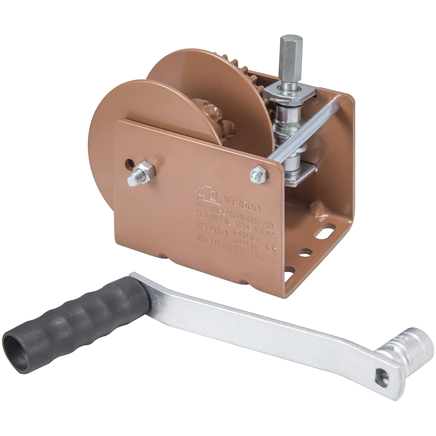 Dutton-Lainson Company WG1500HD 1500 lbs Worm Gear Winch with Hex Drive