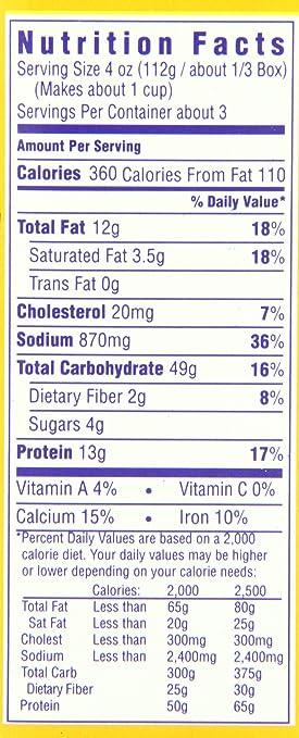 recipe: velveeta mac and cheese box nutrition [3]