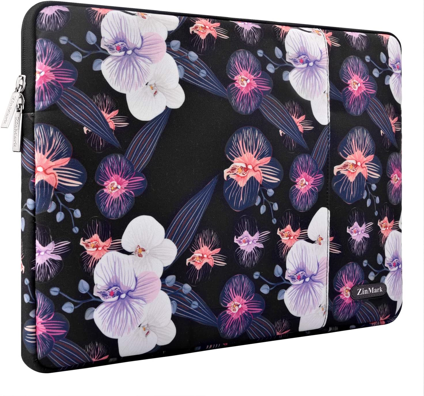 ZinMark Laptop Sleeve 13 Inch Compatible 2019 2018 MacBook Air 13 Inch Retina A1932, 13 Inch MacBook Pro A2159 A1989 A1706 A1708 | XPS 13, Water-Resistant Polyester Notebook Case, Jellyfish Flower