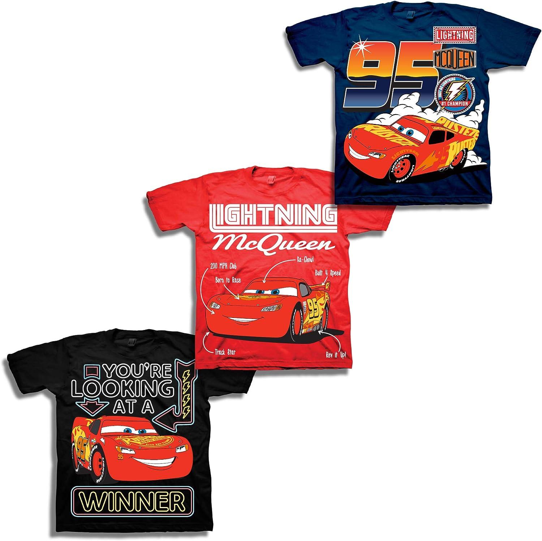 Disney Boys Cars 3-Pack T-Shirt