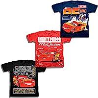 Disney Boys Cars Lightning McQueen Shirt - 3 Pack Lightning McQueen Tees