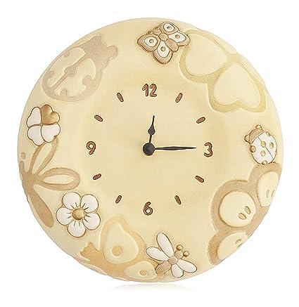 THUN Orologio da Parete Simboli, Ceramica, Variopinto, vetro