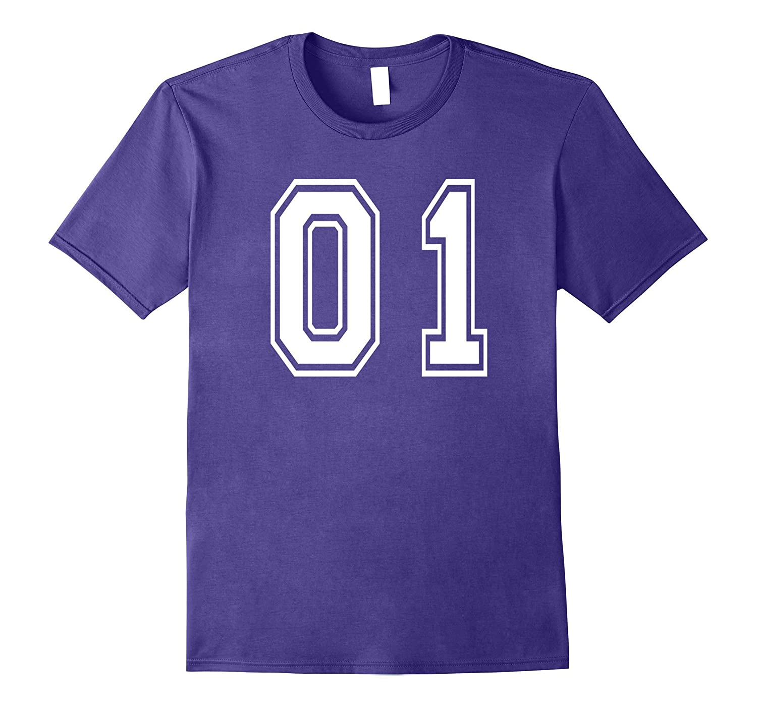 01 Sports Team School Numbers on Front T-Shirt Jersey-TH