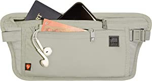 Lewis N. Clark Women's RFID Blocking Money Belt Travel Pouch + Credit Card, ID, Passport Holder for Women & Men, Taupe, One Size