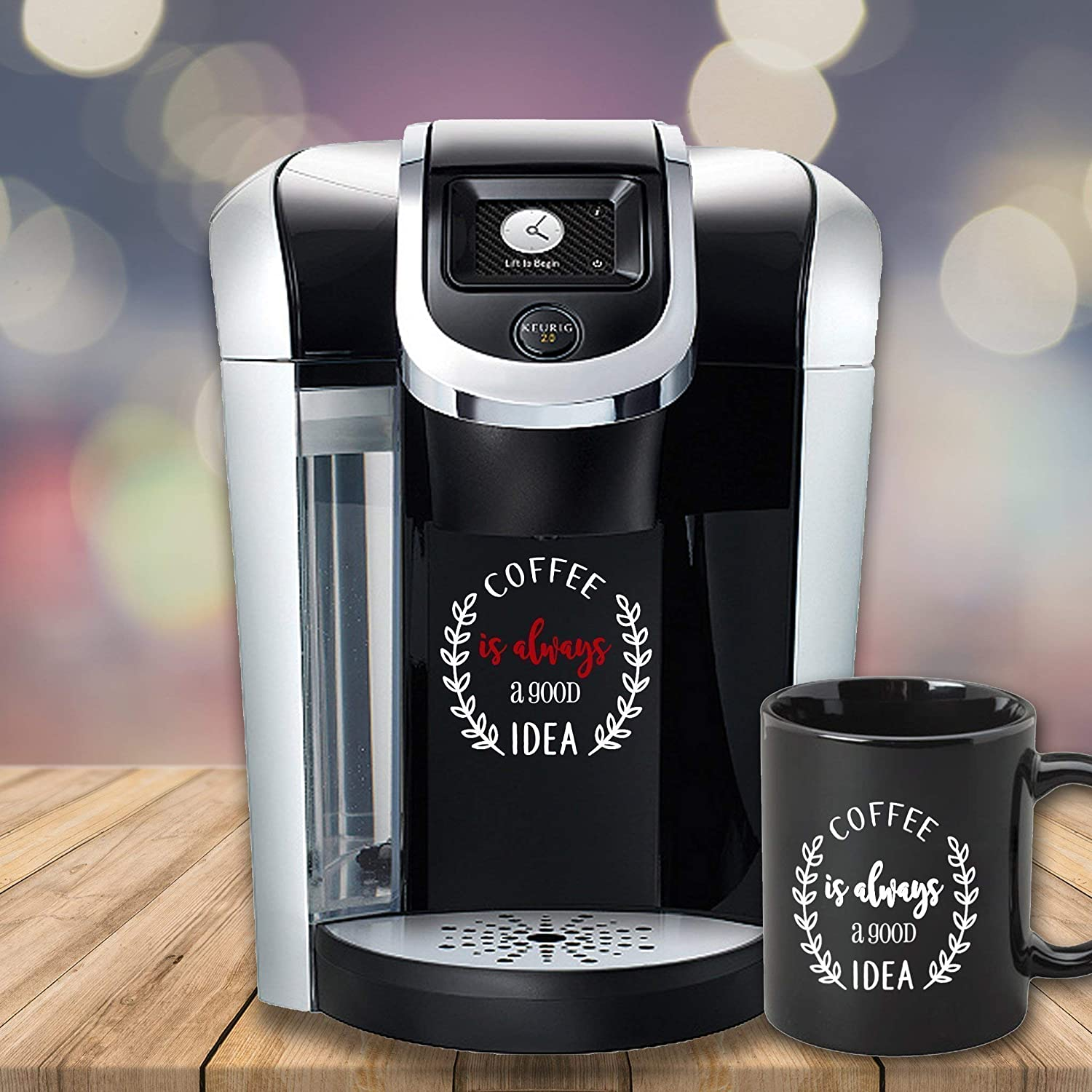 Amazon com: Decal Sticker for Your Coffee Maker Kitchen