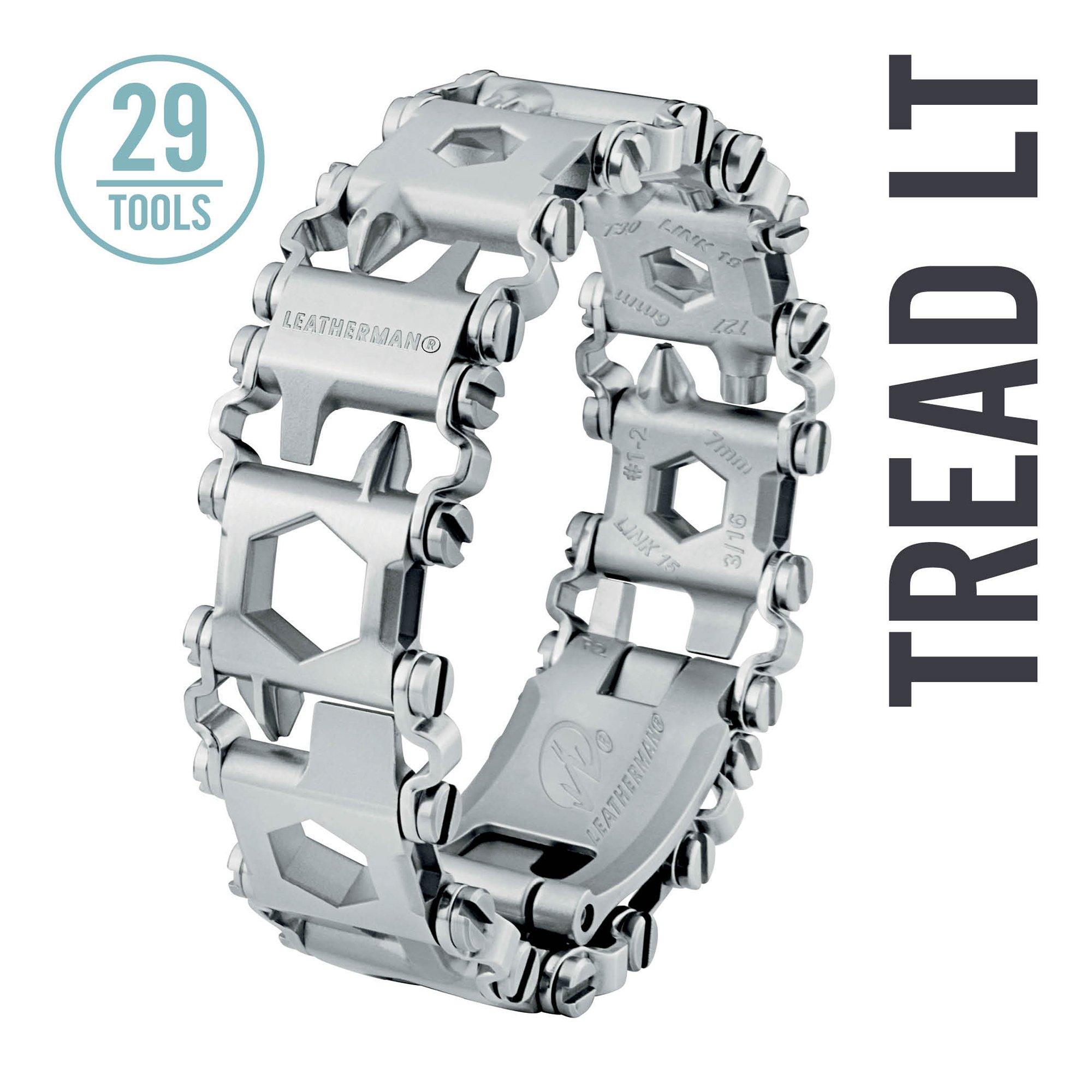 Leatherman - Tread LT Bracelet, The Smaller Travel Friendly Wearable Multitool, Stainless Steel