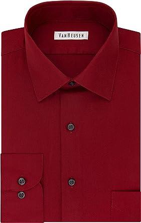 Van Heusen Mens Size FIT Dress Shirts Lux Sateen Stretch ...