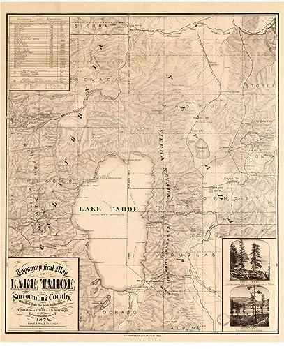 Lake Tahoe Us Map on