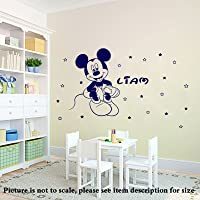 Disney Mickey Mouse Personalized Removable Room Decor Wall Sticker Art Decal Mural Vinyl With 20 stars D11