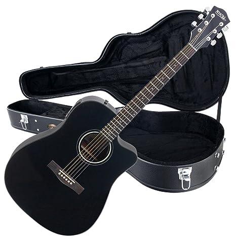 Rocktile Guitarra electroacústica D-60CE Cutaway negro (con ...