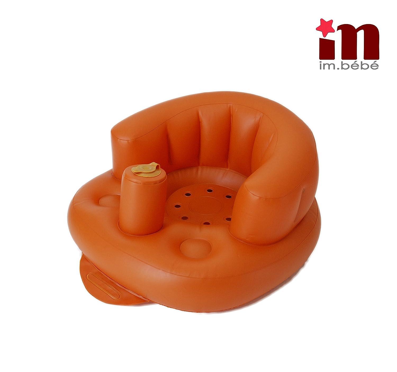 Imbébé siège bébé gonflable multifonction(douche, repas, plage, jeux etc.) en PVC- pompe intégrée pour enfant de 6mois- 5ans