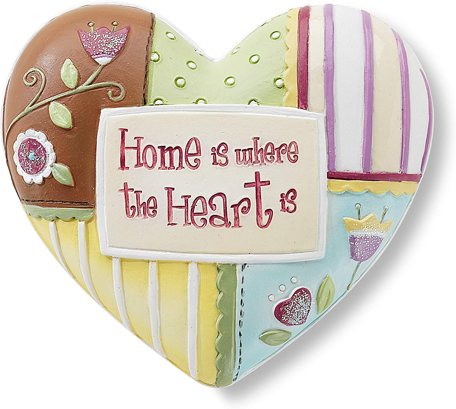 Heart Expressions by Pavilion Inspirational Heart, Home Sentiment, 2-1/2-Inch