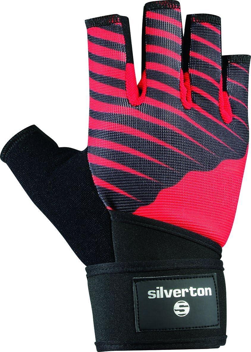 Unisex Silver Tone Cross Grip Gloves