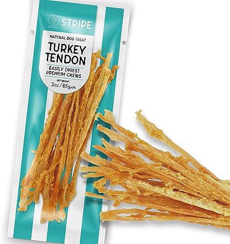 Pet Time Turkey Tendon Natural Dog Treat Easily Digest Premium Chew