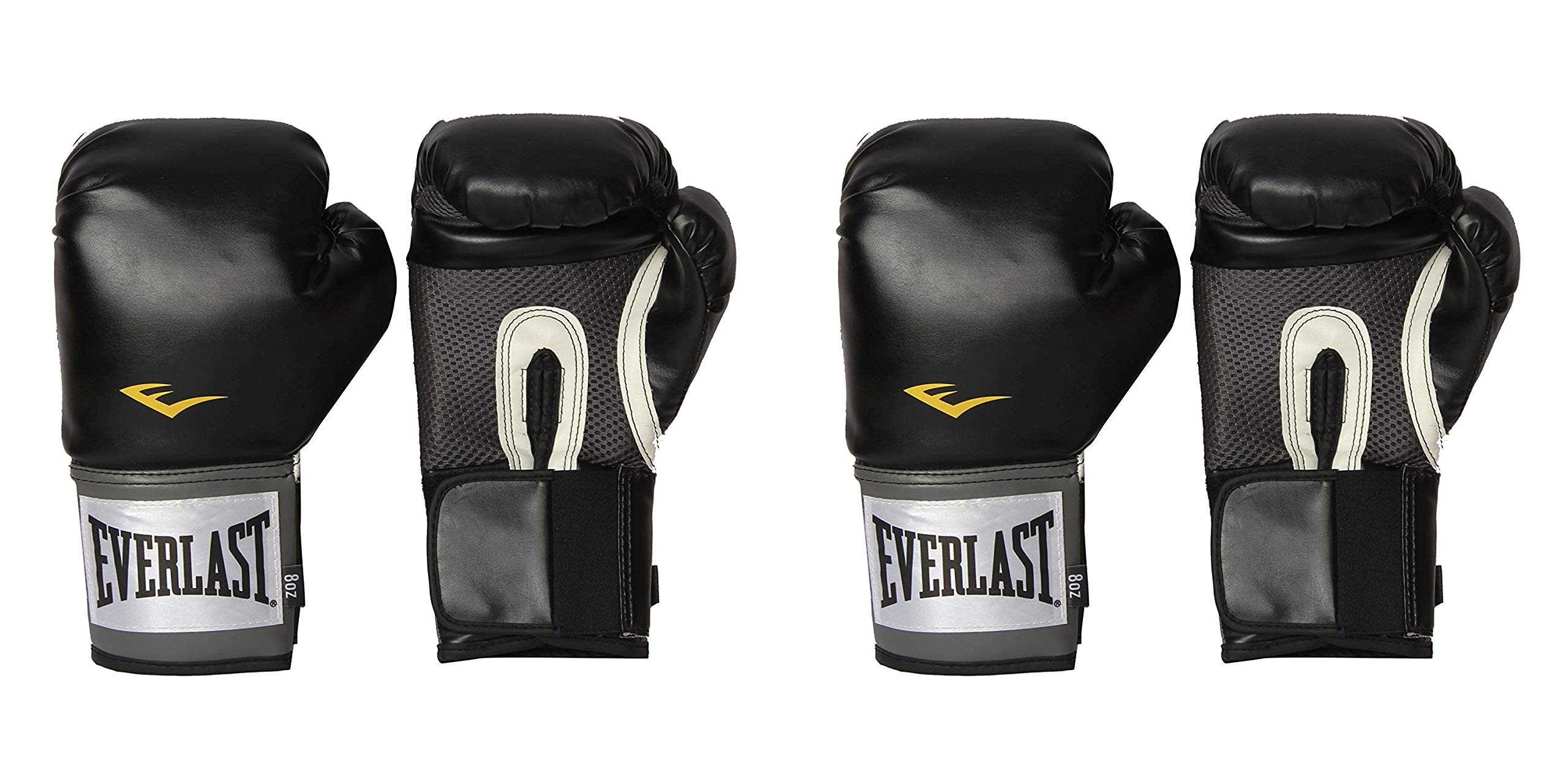 Everlast Pro Style Training Gloves, 2 Pack