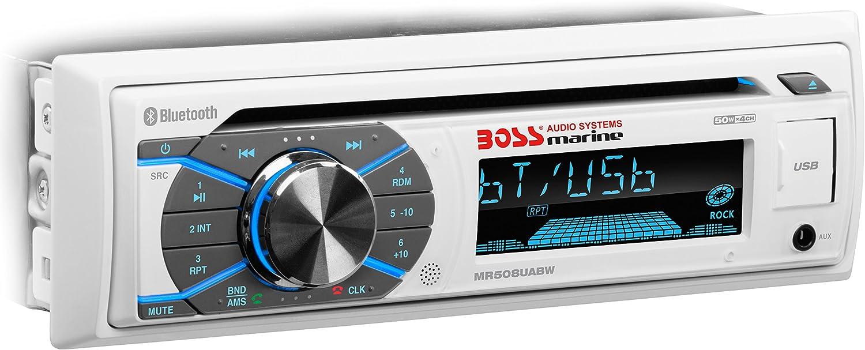 Boss Marine Radio Mr508uabw Radio Cd Mp3 Audio Hifi