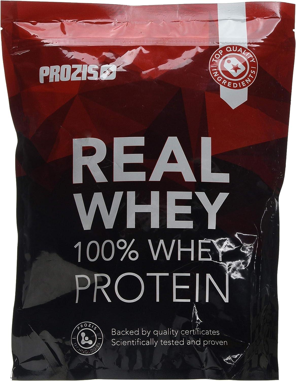 Prozis Natural Real Whey Protein, Proteina en polvo, enriquecido con BCAA para Crecimiento Muscular y Recuperación, óptimo para culturismo, Galletas y ...