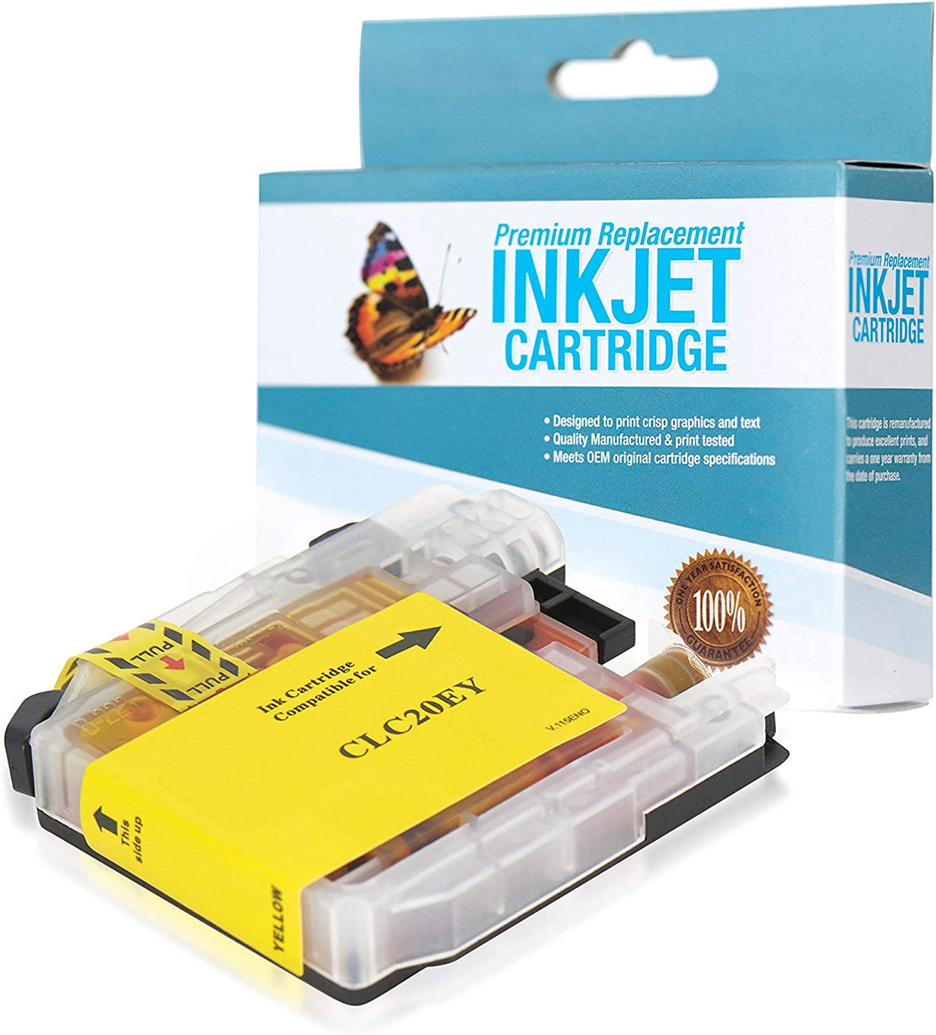 LC20EY SuppliesOutlet Compatible Ink Cartridge Replacement for Brother LC20E Super High Yield Yellow,1 Pack