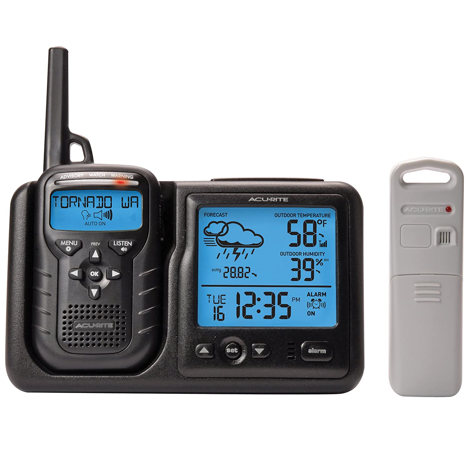 Amazon.com: AcuRite 08580 Weather Station Plus Portable Weather Alert  Radio: Home U0026 Kitchen