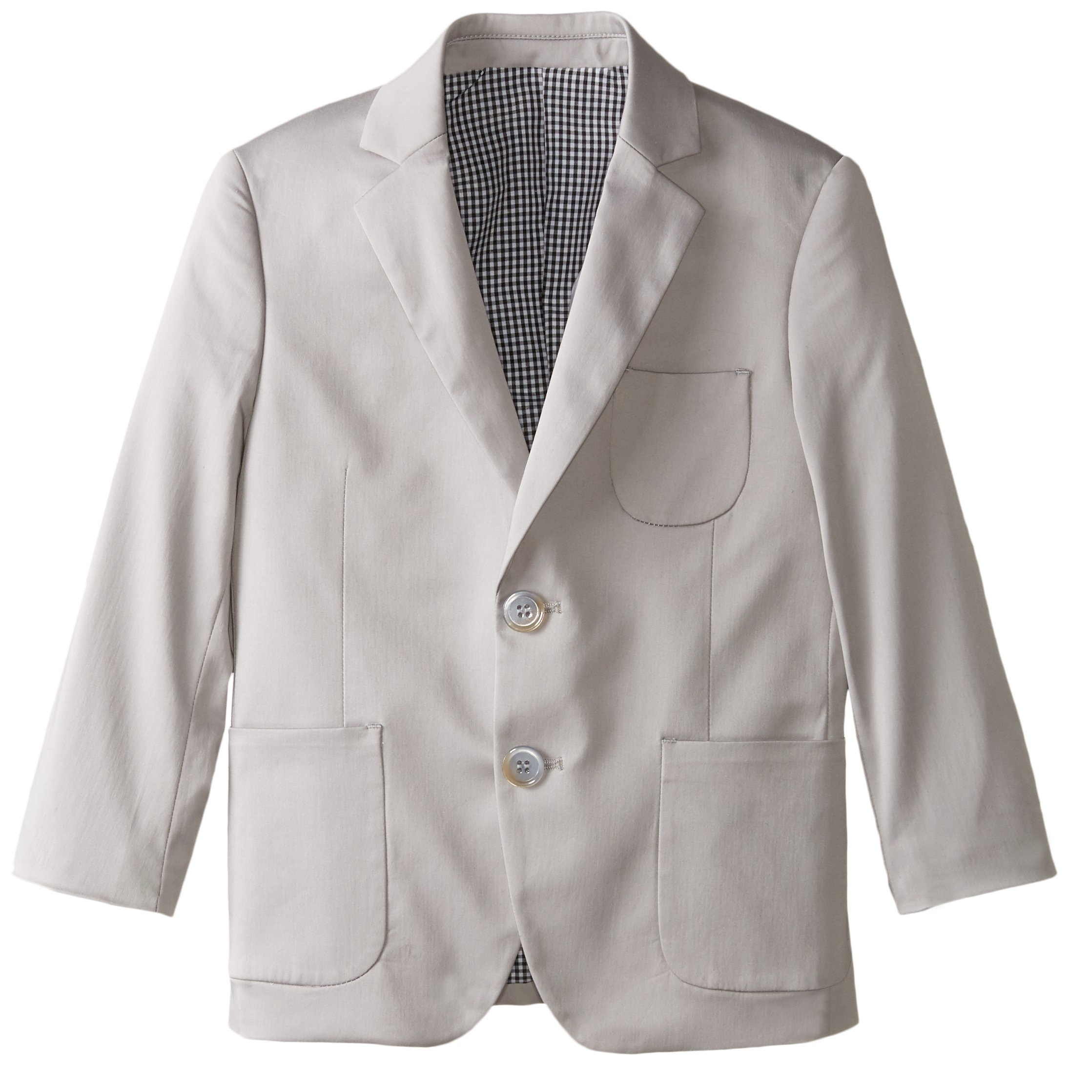 Isaac Mizrahi Little Boys' Little Boy's Cotton Solid Blazer, Grey, 6
