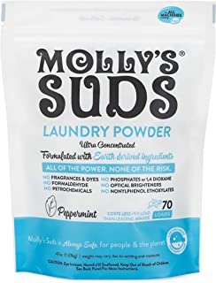 product image for Molly's Suds Original Laundry Powder 70 Loads, Natural Laundry Soap for Sensitive Skin, 47 Ounce (Pack of 1)