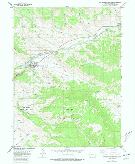 Hot Sulphur Springs Colorado Map.Amazon Com Yellowmaps Hot Sulphur Springs Co Topo Map 1 24000