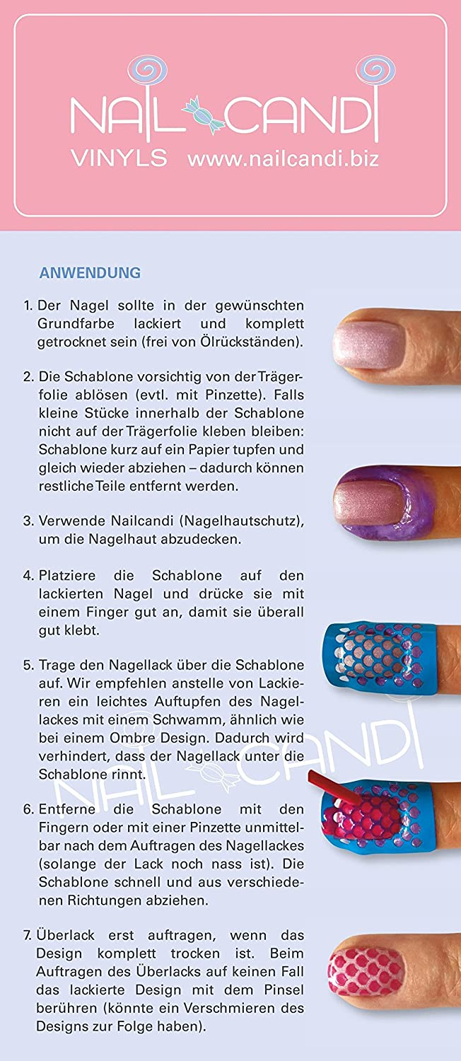 NailCandi Nagelschablonen SET 1 - Nail Vinyls: Amazon.de: Beauty